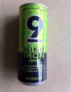 韩国进口 继承者们 NINE 9 IRON 李敏镐代言碳酸饮料 9号 提神