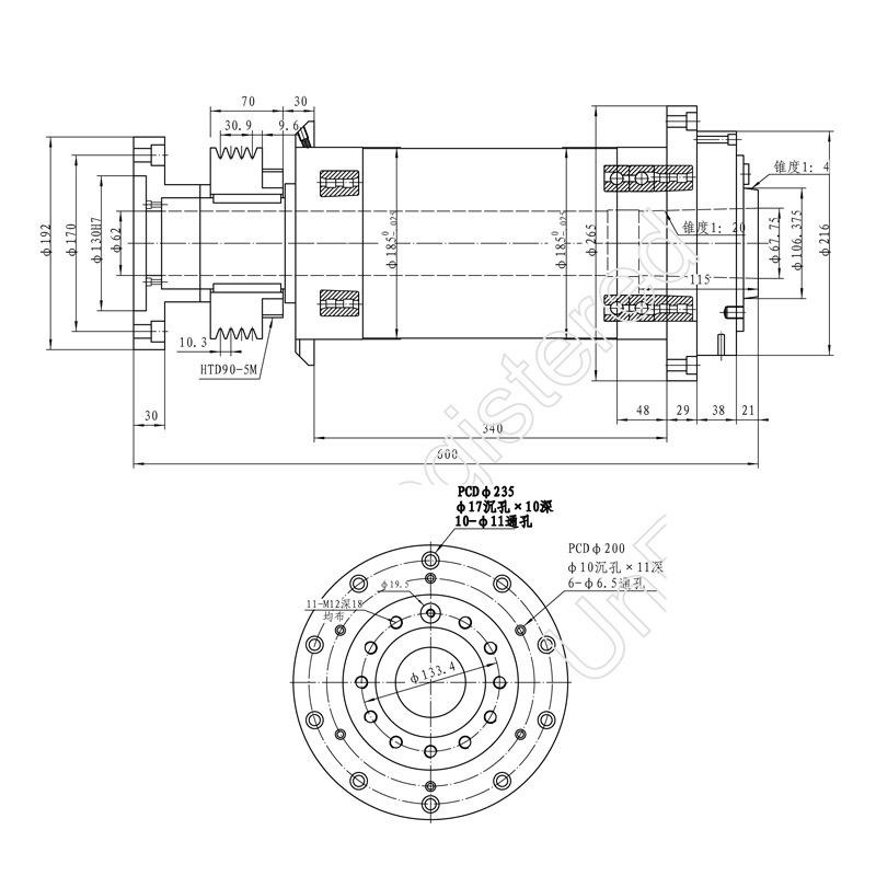 数控车床主轴185 A2-6