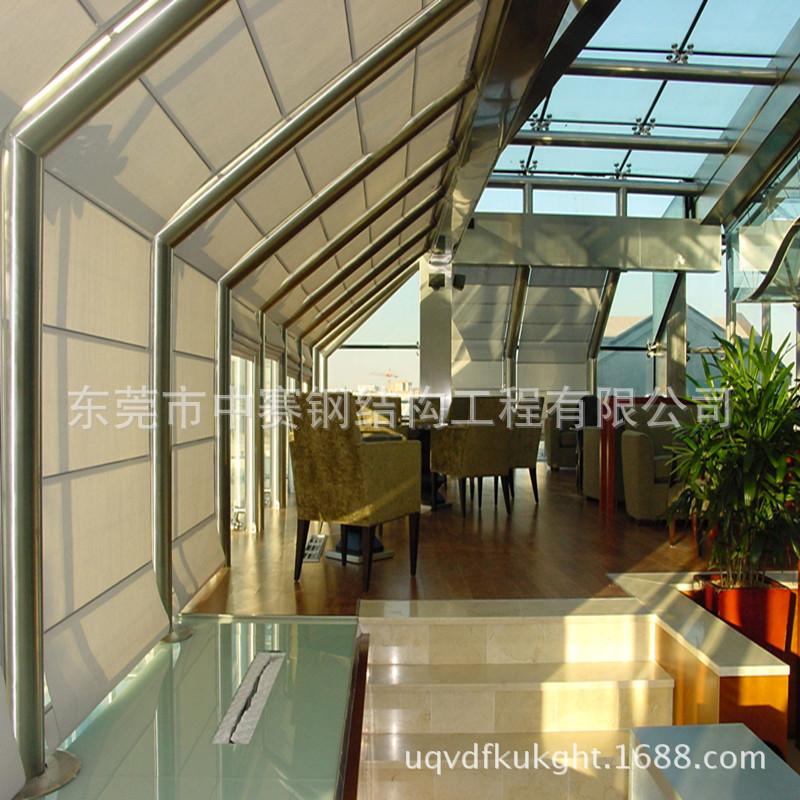 桥头钢架结构幕墙、中赛钢结构工程专业承接大型钢结构幕墙