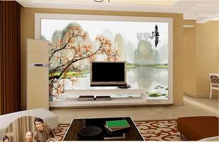 中原神画客厅瓷砖背景墙中式古典电视背景墙瓷砖定制忆江南内墙砖