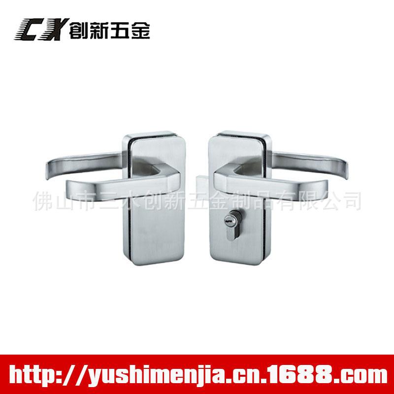 长期供应方型舌门锁 中央玻璃门锁 双开玻璃门锁 优质室内门锁
