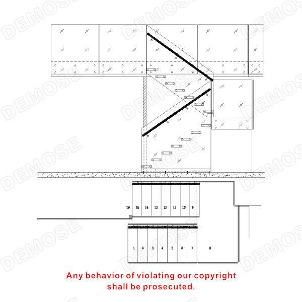 配件-2014年新款家用安装教程实木龙骨踏板栏cad2010隐藏破解玻璃图片