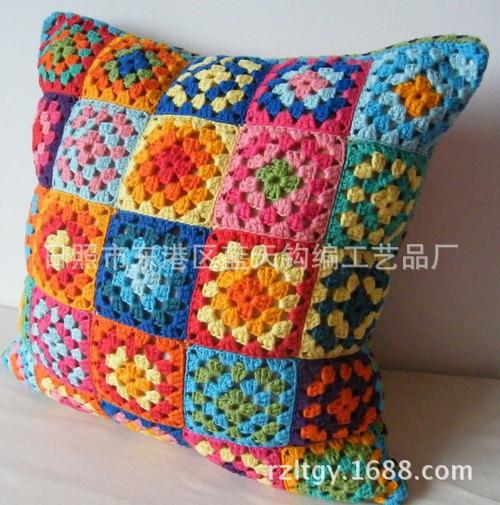 手工编织坐垫 手工编织坐垫 手钩编织坐垫沙发垫 手钩 阿里巴巴