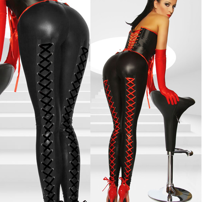 Best Plus Size Hot Selling Ladies Sexy Black Red Latex ...