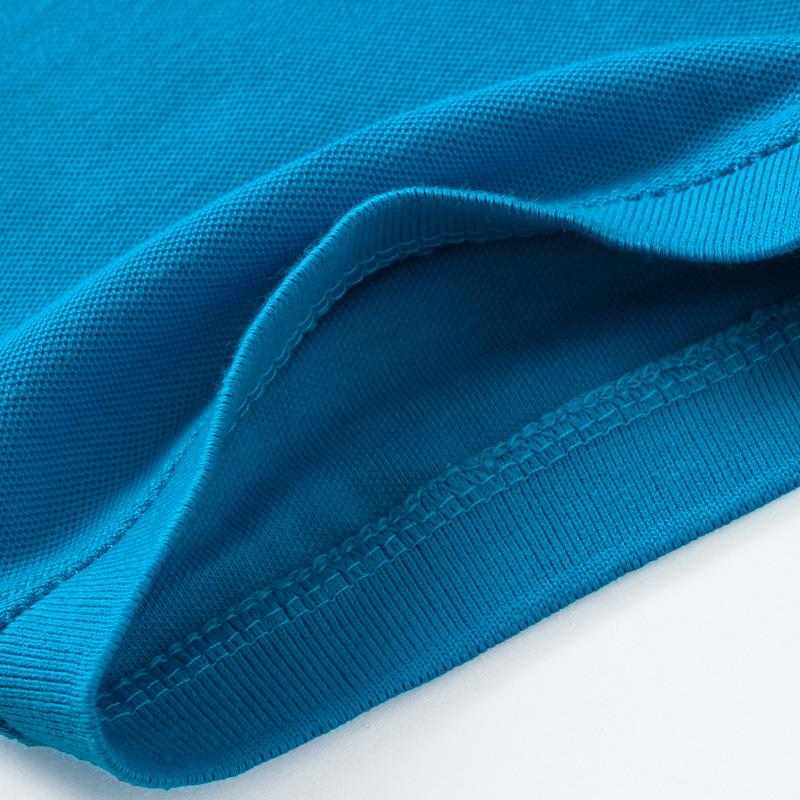 新款 全棉男式衬衫领POLO衫 珠地网眼面料 翻领短袖T恤衫 淘工厂