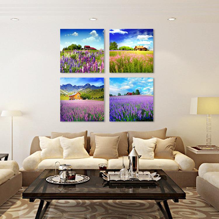 无框画客厅三联装饰画
