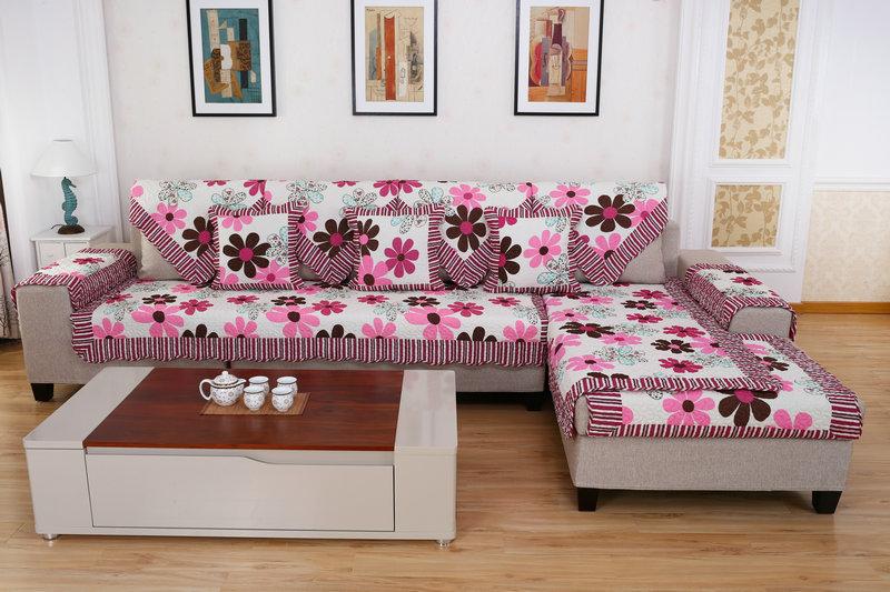 新款蓝色之恋沙发套 全棉沙发垫欧式简约家纺家饰四季通用批发