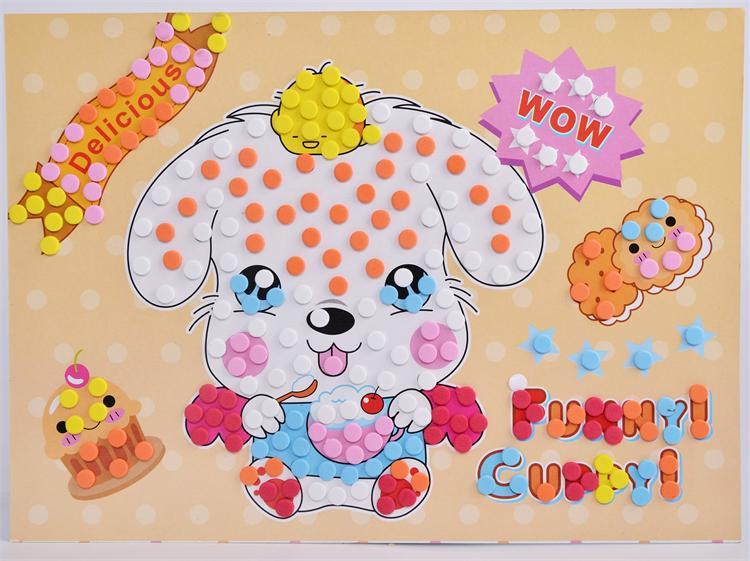 手工贴画 幼儿手工创意贴画 婴幼儿贴画 厂家直销 阿里巴巴