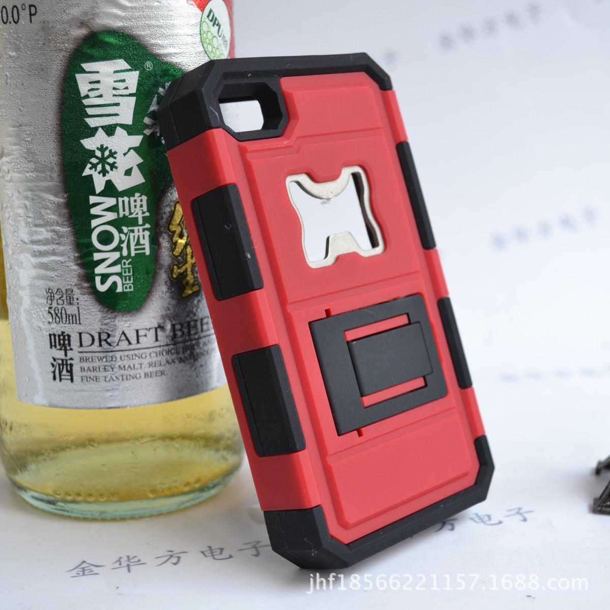 支架手机壳iPhone5/5s4/4s开瓶器苹果手机壳座管夹34.9mm图片