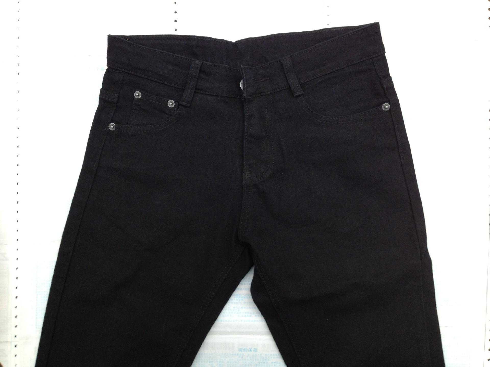 厂家定做普通款弹力牛仔裤中腰男女可穿小脚裤 女装 阿里巴巴采购平