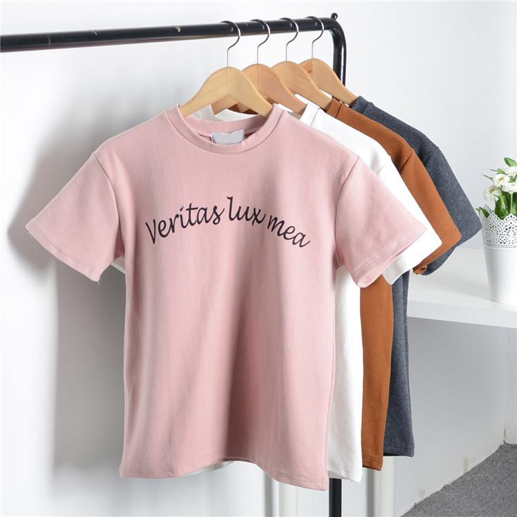 Áo thun dày in họa tiết chữ cái thời trang