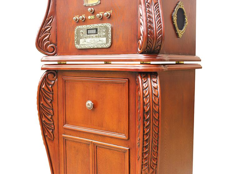 欧斯洛 OSL-668 2015新款 欧式仿古多功能电唱片机 带抽屉唱片机