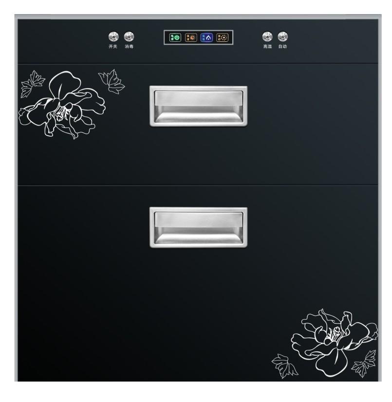 厂家直销|镶嵌式消毒柜|高低温双层抽拉式消毒柜