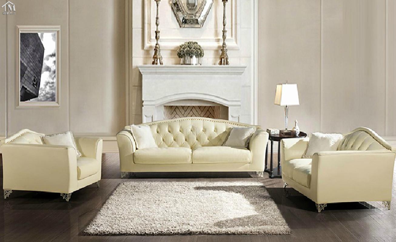 沙发白色欧式新古典特价v沙发皮艺客厅后现代时弘恒家具厂图片