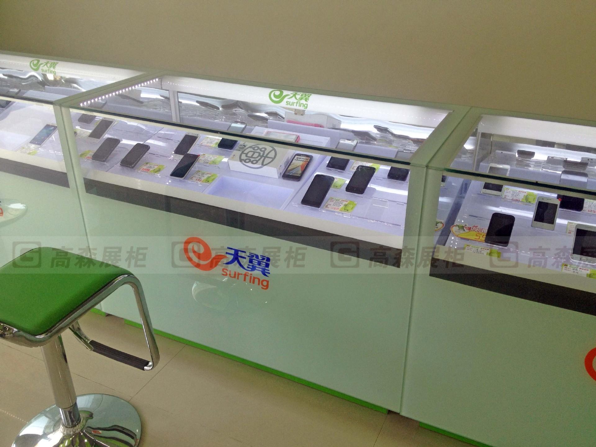 展示柜-中国移动4G柜台柜台三星手机国际苹果未来之战安卓手机服图片