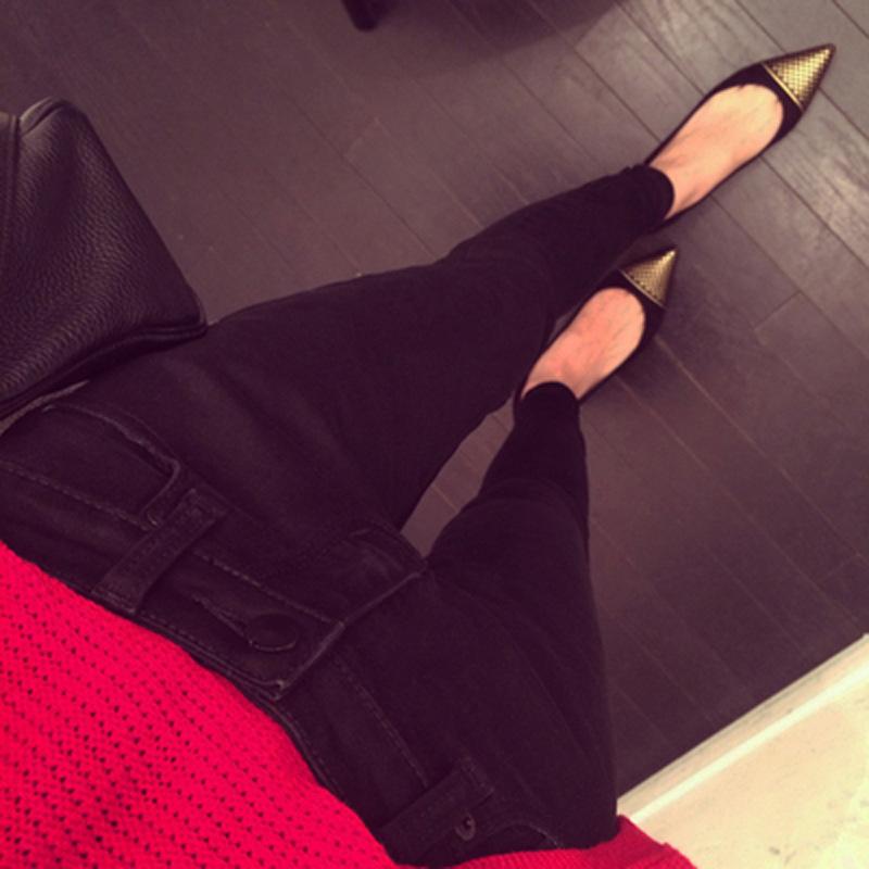 2014秋冬女装新款百搭牛仔布铅笔裤一件代发打底裤 冬季加绒加厚