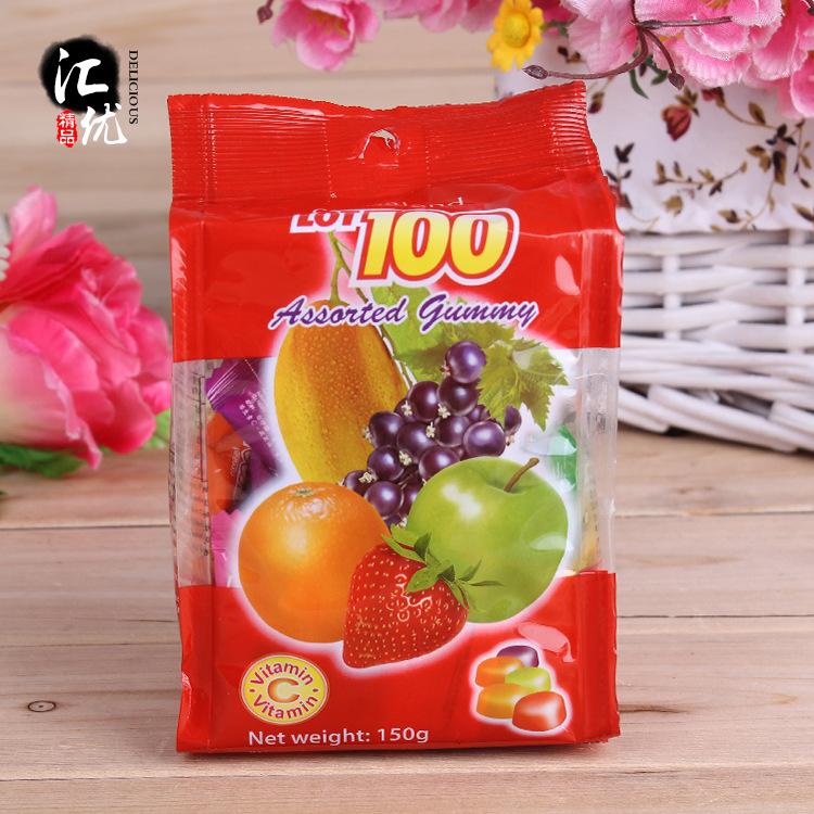 进口食品休闲零食批发一百份什果果汁软糖原装正品