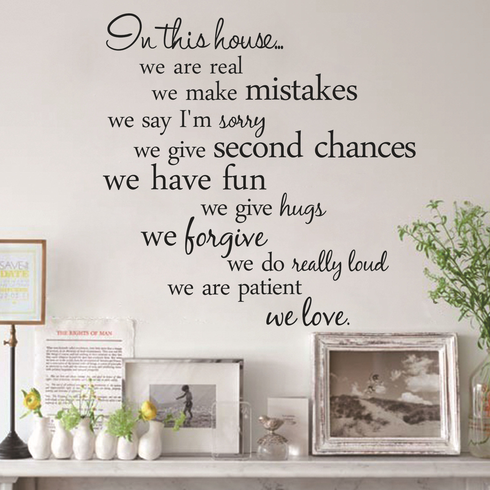 2015 English Letter In This House Living Room Background Wall