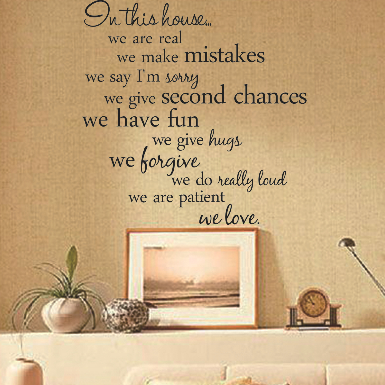 2015 English Letter In This House Living Room Background Wall ...