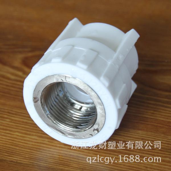 浙江厂家直销 PPR自来水管管件 PPR内牙直接 出口定制