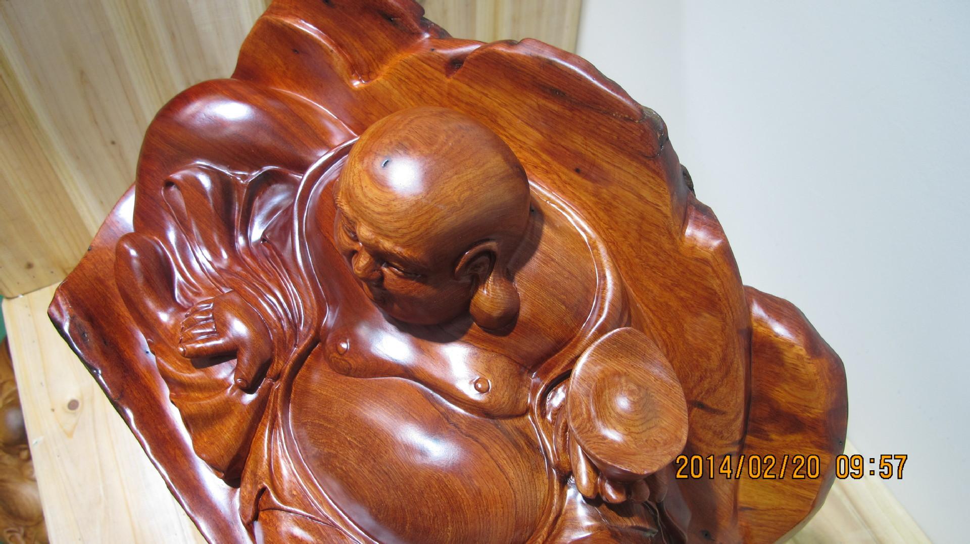 老挝花梨弥勒根雕 家居工艺品 手工根雕摆件 -价格,厂家,图片,木质