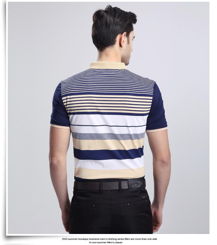 男士条纹t恤 品牌夏季新款男式短袖t恤 纯棉男t恤 男士条纹厂家批发 阿