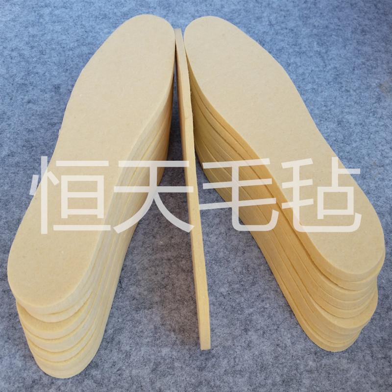 厂家批发冬季保暖羊毛毡鞋垫 吸汗5MM毛毡鞋垫 跑江湖地摊产品