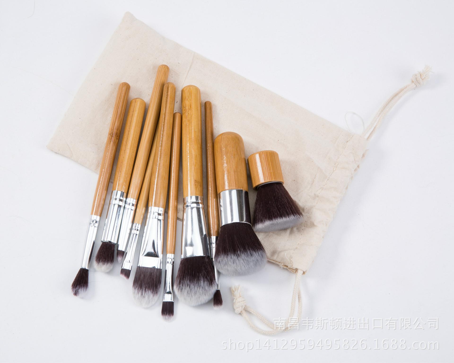 梦妆季10支化妆刷竹柄束带便携式套刷初学者美妆化妆工具质量确保