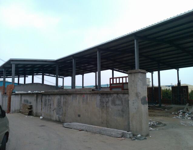 钢板棚,钢结构彩钢瓦棚,彩钢板雨棚 -彩钢板雨棚 宏钢结构设计安