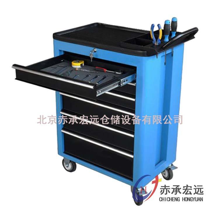 北京工具柜直销五抽工具车 重型工具车 带抽屉工具车 欢迎