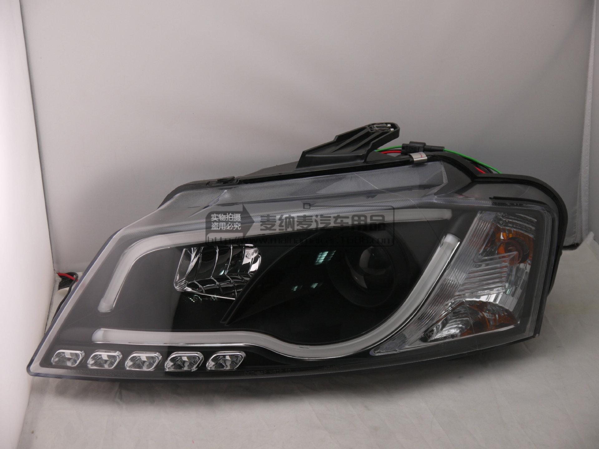 8 12 光纤大灯 汽车改装大灯 大灯总成LED泪眼灯高清图片