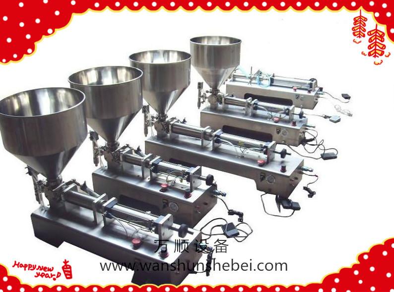 活塞式灌装机(纯气动)是在原先 它采用气动元件代替电气控制回路图片