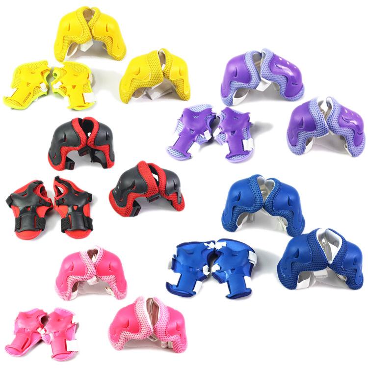 多色加厚儿童护具儿童运动组合护具 轮滑溜冰鞋护具六件套批发