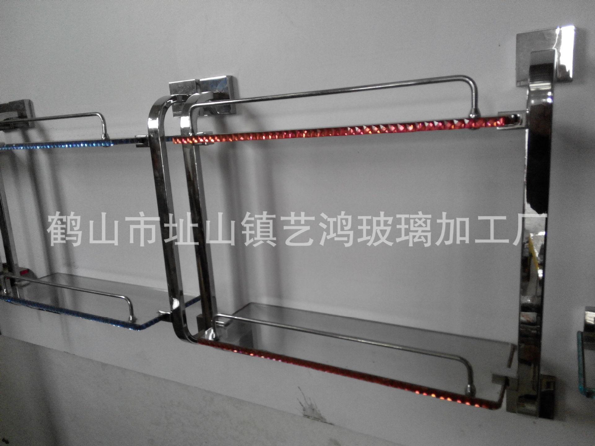 厂家供应卫浴浴室置物架 双层玻璃置物架单层玻璃置物架三角形架