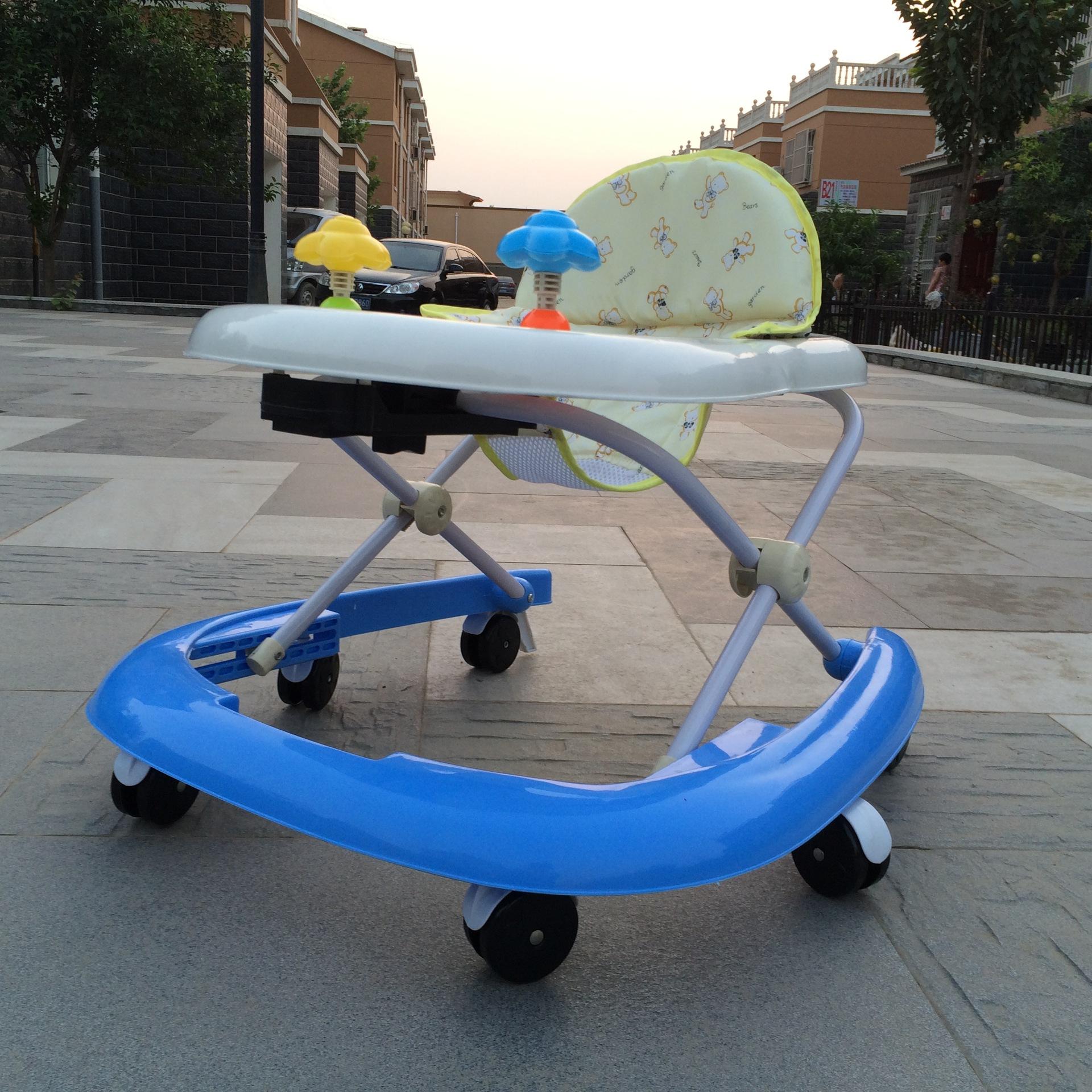 正品婴儿童宝宝学步车助步车多功能易安装折叠防侧翻 U型学步车