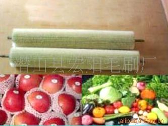 供应土豆萝卜去皮毛刷辊,水果/干果清洗机毛刷辊,果品打蜡毛刷